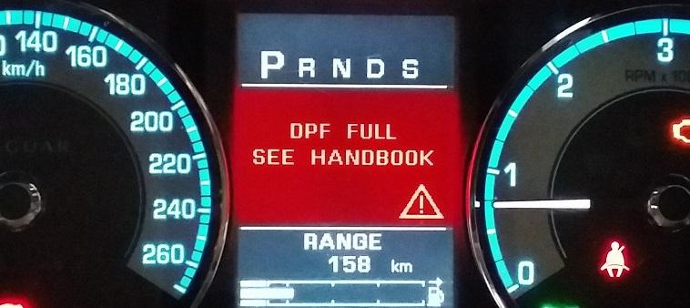 DPF full see handbook error